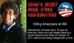 "socialismartnature:  The Obama administration's assassination of two U.S. citizens in 2011, Anwar al-Awlaki and his 16-year-old Denver-born son Abdulrahman, is a central part of Jeremy Scahill's new book, ""Dirty Wars: The World Is a Battlefield."" The book is based on years of reporting on U.S. secret operations in Yemen, Somalia and Afghanistan. While the Obama administration has defended the killing of Anwar, it has never publicly explained why Abdulrahman was targeted in a separate drone strike two weeks later. http://www.democracynow.org/2013/4/23/jeremy_scahill_the_secret_story_behind"