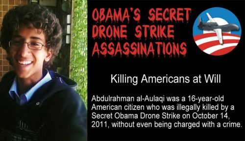 "The Obama administration's assassination of two U.S. citizens in 2011, Anwar al-Awlaki and his 16-year-old Denver-born son Abdulrahman, is a central part of Jeremy Scahill's new book, ""Dirty Wars: The World Is a Battlefield."" The book is based on years of reporting on U.S. secret operations in Yemen, Somalia and Afghanistan. While the Obama administration has defended the killing of Anwar, it has never publicly explained why Abdulrahman was targeted in a separate drone strike two weeks later. http://www.democracynow.org/2013/4/23/jeremy_scahill_the_secret_story_behind"