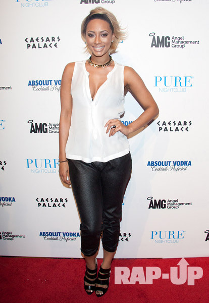 KERI HILSON PARTIES AT PURE IN LAS VEGAS
