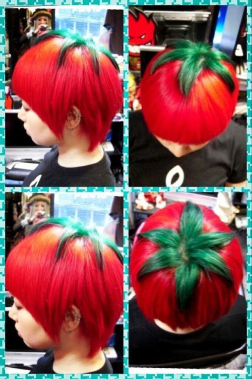laughingsquid:  Japan's Cutting-Edge 'Ripe Tomato' Hairstyle  reblogging for britt, coolest hairstyle ever