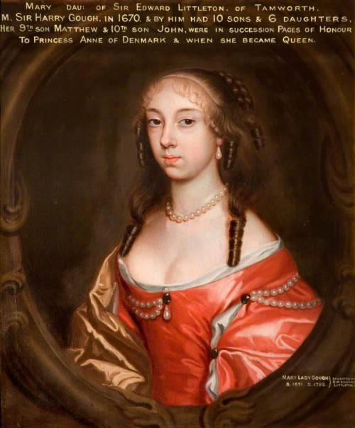 Lady Mary Gough, attributed to Mary Beale, ca 1670, Tamworth Castle