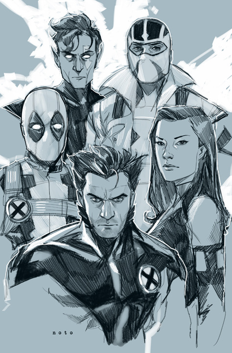 philnoto:  Uncanny X-Force - The last issue of Rick Remender's Uncanny X-Force comes out today. Rick along with Jerome, Dean, Esad, Mark, Billy, Greg, Mike, David, Julian and Frank created hands-down one of the most exciting comic series to hit the shelves in years. Rick and I have been friends for a long time and it was a dream come true to collaborate with him on this. Thanks to all of you who bought and supported the book!