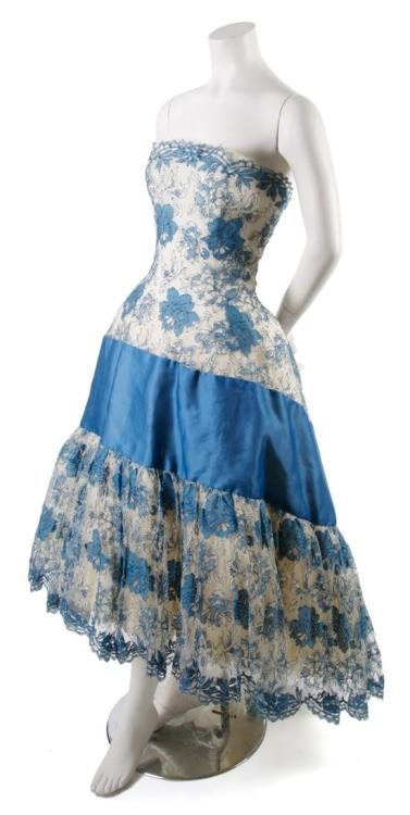 Lanvin evening dress, 1950's From Leslie Hindman Auctioneers