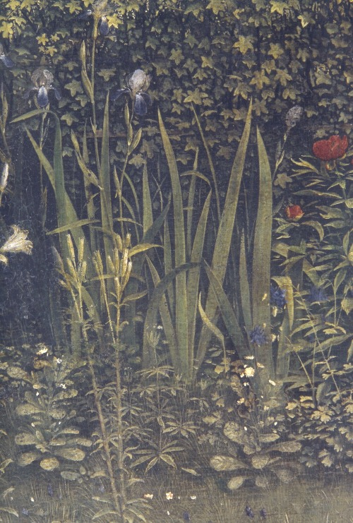 artdetails:  details from Ghent Altarpiece, Jan van Eyck, c. 1432