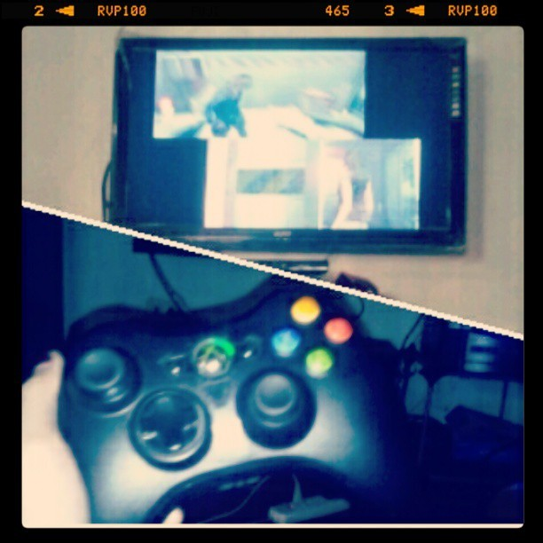 now playing #residentevil6 for the 3rd time with my brother #xboxtime #instafun