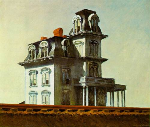 goodolarthistory:  Artist: Edward Hopper Title: House by the Railroad Date: 1925