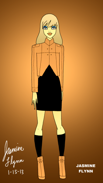 Tan Jacket and Boots. a digital drawing by me, Jasmine Flynn :)