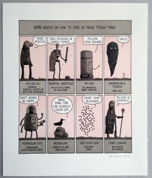 "Tom Guald - ""Tough Times"" http://www.tomgauld.com/index.php?/shop/tough-times-print/"