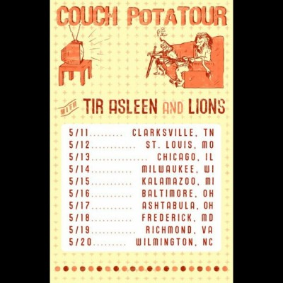 Approximately 52 hours until #couchpotaTOUR with #Lions & #TirAsleen !!!