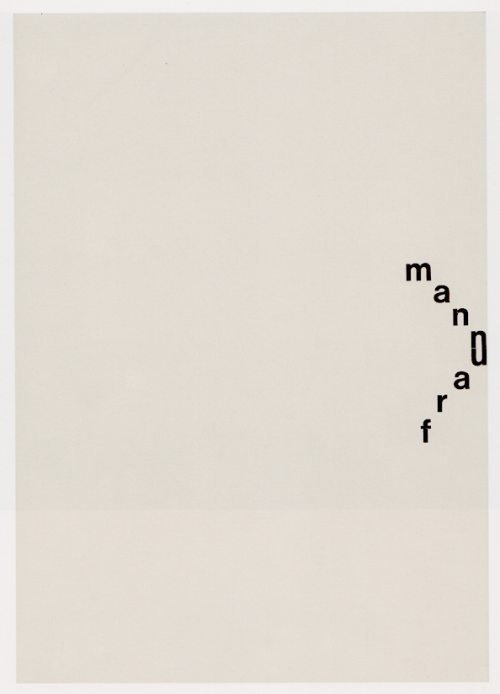 visual-poetry:  »mann frau (man woman)« by gerhard rühm (+)