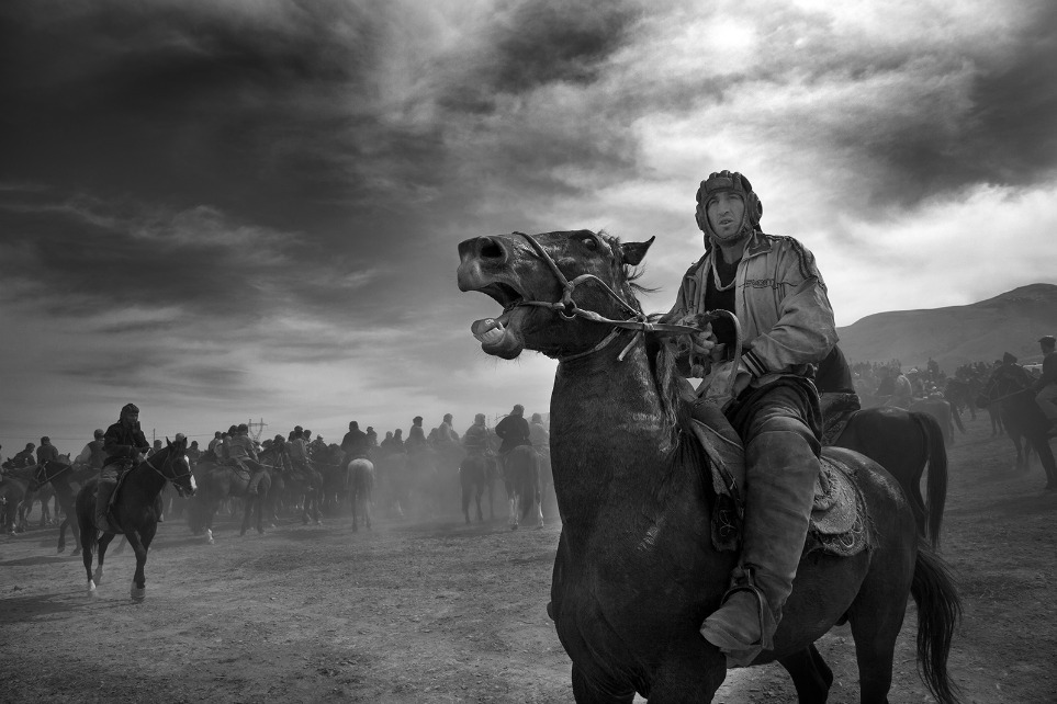 "Central Asian Turkic Game ""Buzkashi"" Meaning ""Goat Grabbing"" Photo and caption by Mahdi Bemani (Dushanbe, Tajikistan); Photographed March 2010, Hisar City in Tajikistan"