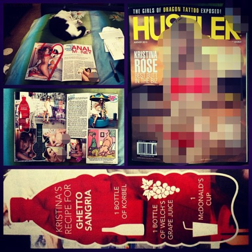 kristinarosexxx:  I'm in the Aug. '13 issue of #Hustler: Interviewed by @girlvert, Pictured by @giajordan 🙏 #Blessed