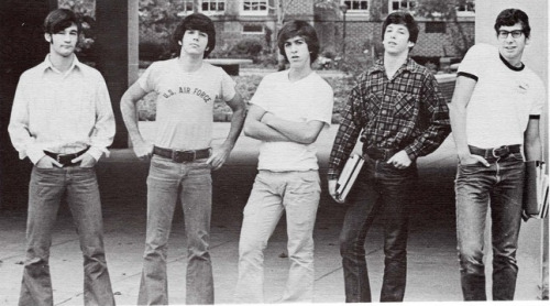 My dad(center) and his bros, Cleveland Heights High, 1973