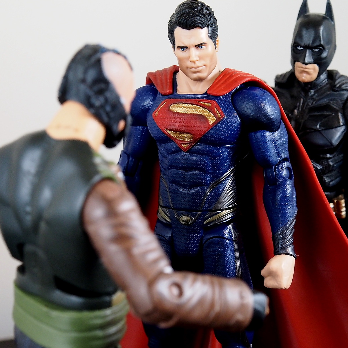"wyluncustoms:  Superman - ""go home bane.. you're drunk"""
