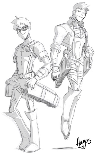 americanninjax:  Attack on Teen Titans. Lunch time sketch to see if I can make Olga's head explode. haha.