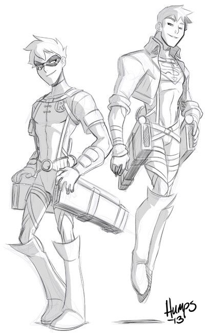 urdchama:  americanninjax:  Attack on Teen Titans. Lunch time sketch to see if I can make Olga's head explode. haha.   AAHAHAHAHAHA! \^_____^/