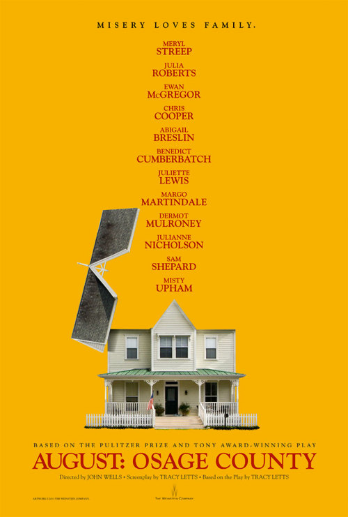 popculturebrain:  Poster: 'August: Osage County' | Yahoo!  I was unaware that Ewan McGregor would be in this too. I am not ready.  This is going to be fantastic.