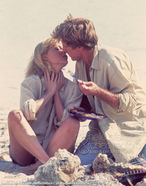 pfeiffertheface:  Michelle Pfeiffer & Robert Redford @ UP CLOSE & PERSONAL (1996)… an amazing couple!
