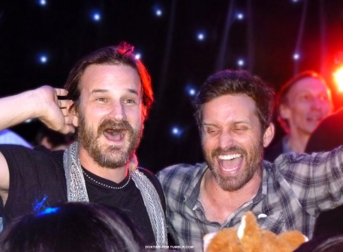 doktor-vem:  Richard and Rob during the karaoke night at Asylum 10