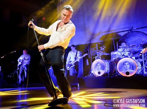 "Saw my 14th Morrissey concert last night and got to shoot the show for the third time. I always love seeing Moz in concert but last night's show was more for the occasional fan, not the die-hards. Too much ""Ouija Board, Ouija Board"" and ""Meat Is Murder"" and not enough ""Jack The Ripper"" and ""Disappointed."" That said ""You're The One For Me, Fatty"" and ""Alma Matters"" were pretty great. More photos of Moz's mom jeans on the blog."