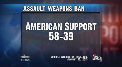 What % of American Support an Assault Weapons Ban
