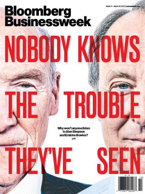 businessweek:  Why Won't America Listen to Alan Simpson and Erskine Bowles?   After their eponymous commission failed to get a deal to cut the deficit, Simpson and Bowles hit the road to sound the alarm. America's response? Crickets.   Read this week's cover story and let us know what you think!  There's a reason that wherever Joshua Green goes, I will go.