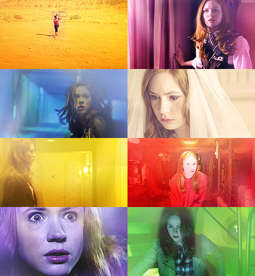 screencap meme + colors abound | amy pond