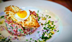 steak tartare @ Brasserie Beck, Washington DC by Plantains & Kimchi on Flickr.