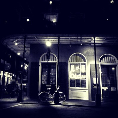 The corner of Dauphine and Conti #NewOrleans  (at Deja Vu Restaurant And Bar)