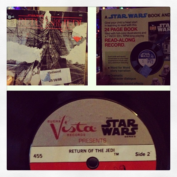 Be jealous of my #vinyl #oldrecords #starwarsfan #starwarsgirl #starwarsrecord