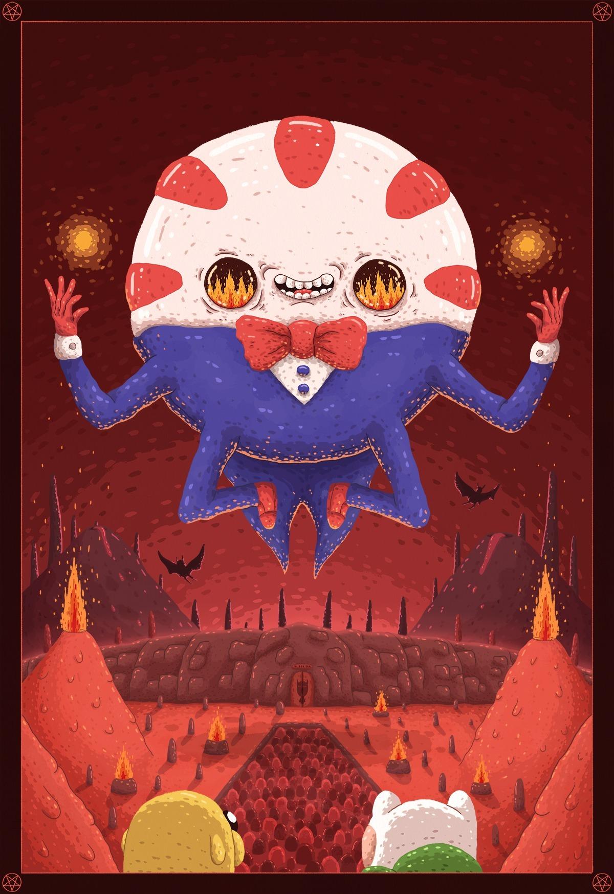 Peppermint Butler: True Ruler of the Nightosphere https://www.behance.net/gallery/16081659/Adventure-Time-Tribute  Submitted by stevendarden
