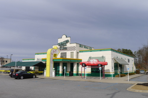"""Quaker Steak & Lube"" Greenville, South Carolina. I took a quick trip to visit family. They live near this, thing."