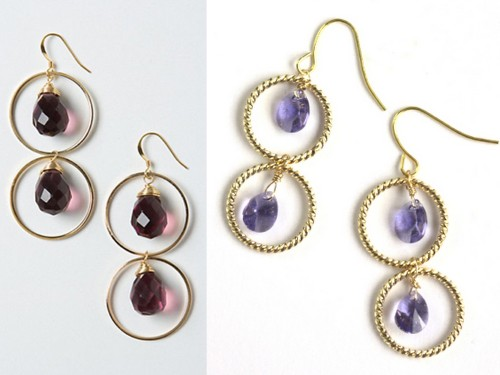 truebluemeandyou:  DIY Knockoff Anthropologie Piccadilly Drops Earrings Tutorial from Small Good Things here. Really clear and easy tutorial. Left Photo: $48 Anthropologie Piccadilly Drops Earrings here, Right Photo: DIY by Small Good Things.