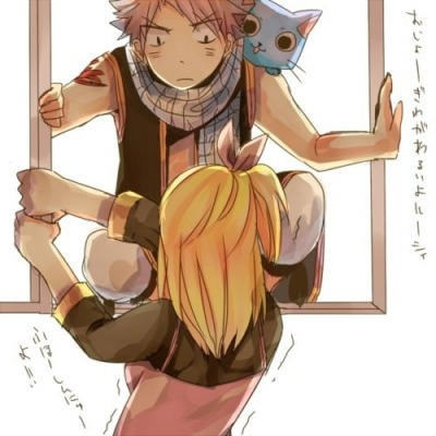 "Daily occurance. ""…Natsu what even, use the damn door!"""