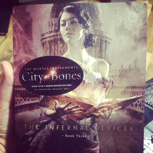 4. This happened today. Finally bought my paperback copy of Clockwork Princess :) #fmsphotoaday #photochallenge #photoaday #bookhaul #books #InfernalDevices