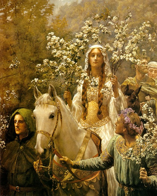 "the-garden-of-delights:  ""Queen Guinevre's Maying"" (1900) by John Collier (1850-1934)."