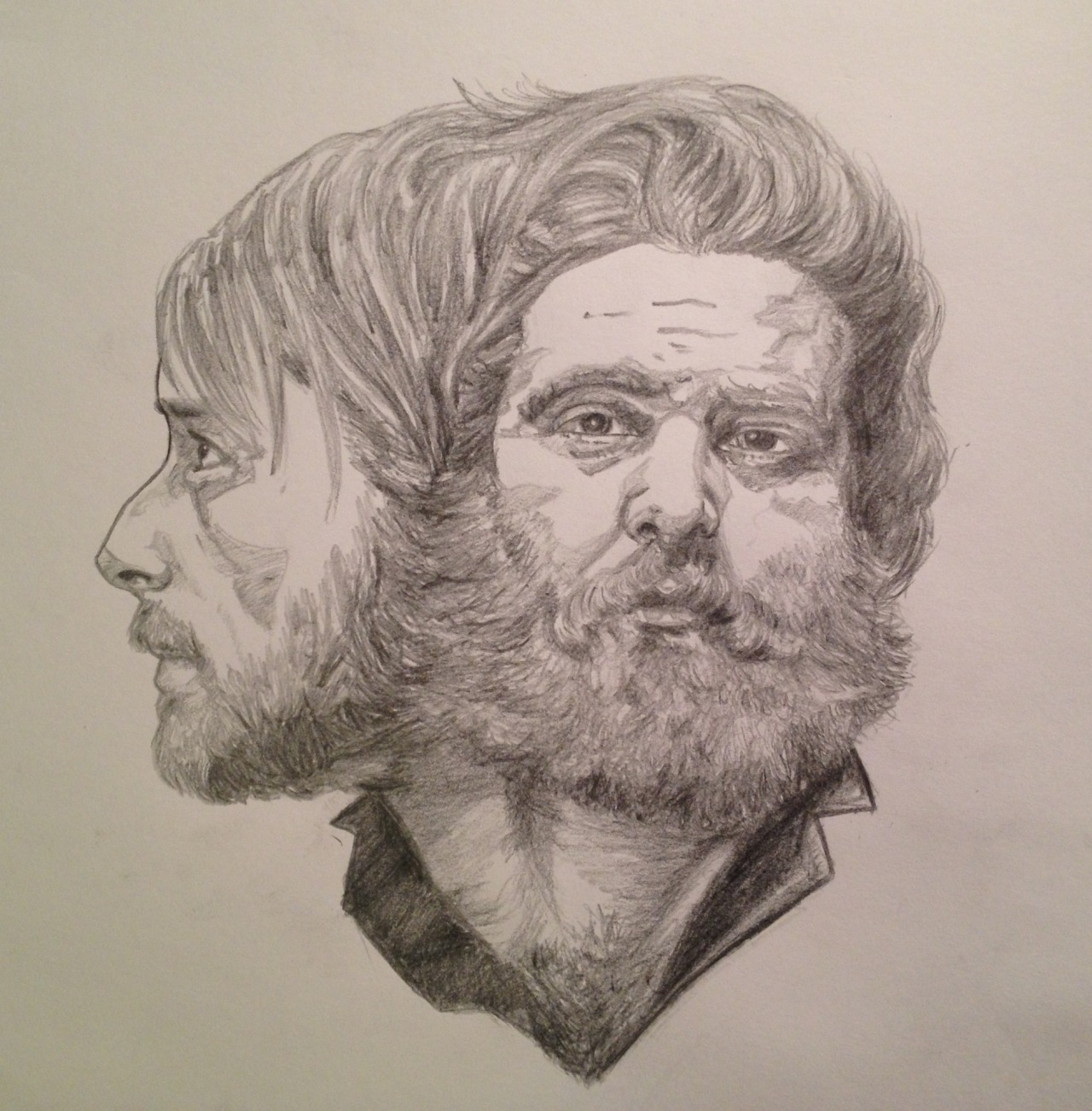 eatsleepdraw:  'Good Beards, Bad Books' (Kevin Devine & Andy Hull)  Thanks to Eatsleepdraw for the reblog: