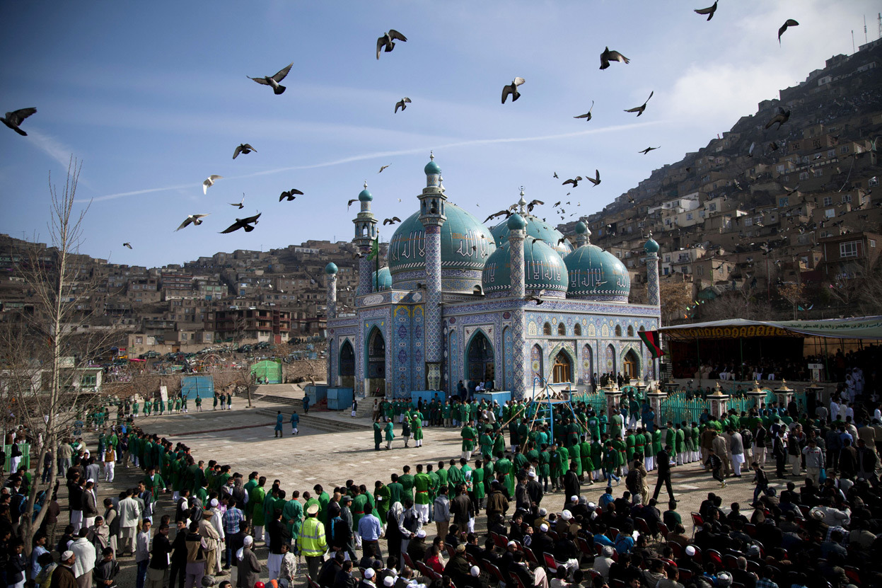 Just a gorgeous shot of the Kart-e Sakhi mosque in Kabul by Anja Niedringhaus for the AP, via The Atlantic's In Focus blog.