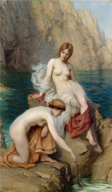 23silence:  Herbert James Draper (1863-1920) - By Summer Seas