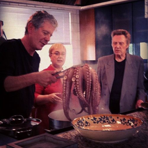 Anthony Bourdain, Lidia Bastianich and Christopher Walken