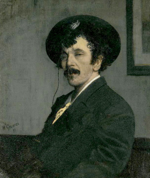 artistandstudio:  Walter Greaves, Portrait of James Abbott McNeill Whistler