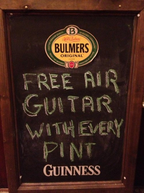 Free Air Guitar With Every Pint It's a Strat, too.