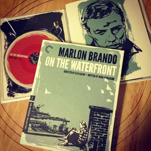 Hello, movie night. Got myself a present for finishing the EP mix. #brando #kazan #schulberg #contender