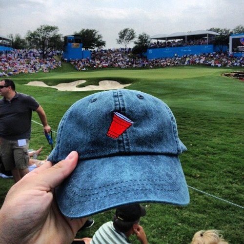 From ashy to classy - one of our original Brolo hats at the Byron Nelson - thanks for the submission from Texas!!! | #theearlyhours
