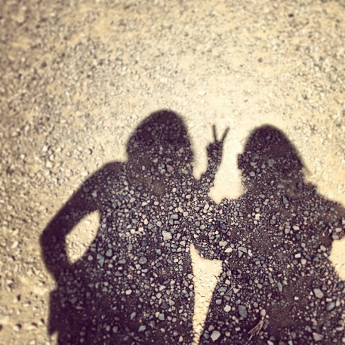 With Patricia. #shadow #earth #dirt #stones #eh