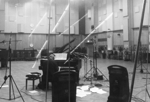 lostandblissful:   Iconic composer Michael Nyman recording in Studio One at Abbey Road Studios in London. photograph by Adarsha Benjamin