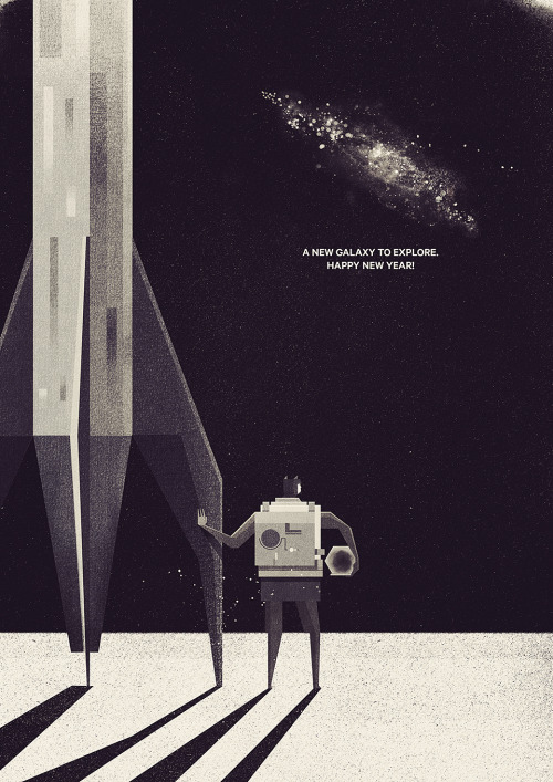 Happy New Year Everyone! by Dan Matutina / twistedfork Time to turn the dial back to 0 and start again. If you stumbled this year, time to pick yourself back up and do it again. Thanks for following my corner of the Internet, dudes. See you next year!  Artist: Tumblr / Website / Society6