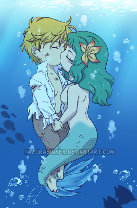 merstuff:  Mermaid Kiss by *HazuraSinner