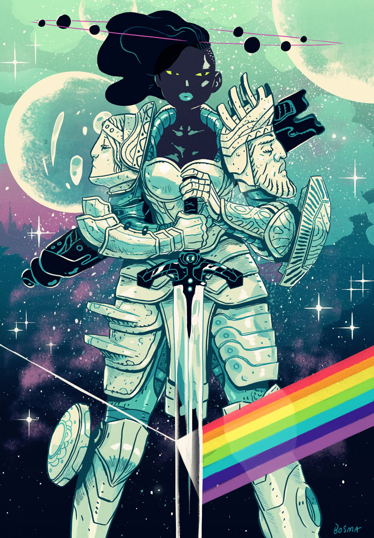 kalidraws:  sbosma:  sbosma:  Space Paladin Prints Archival inks on 100% cotton rag paper. Printed with the help of the fine folks from INPRNT.com -Open edition (4/21-4/28) -12x18 - $30 -18x24 -$50 http://sbosma.bigcartel.com/  Print sale ends this after this weekend!   Order one of these babes while you still can, folks!