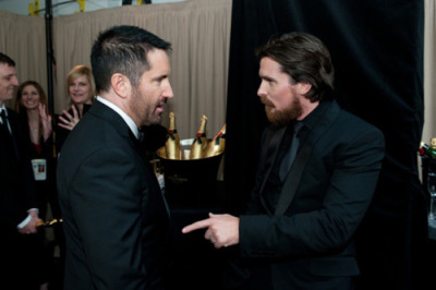 Trent Reznor and Christian Bale at the Academy Awards